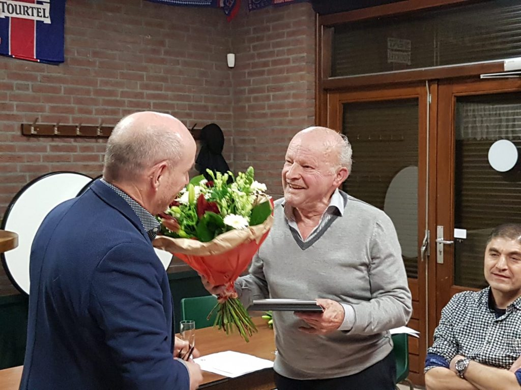 Jacques van de Brekel 50 jaar lid en benoemd tot erelid